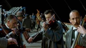 Musikerne på dækket af Titanic